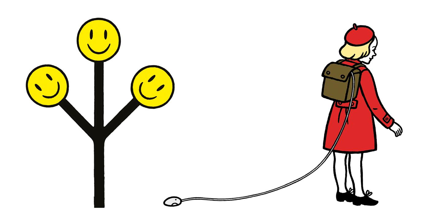 Smile-och-flicka