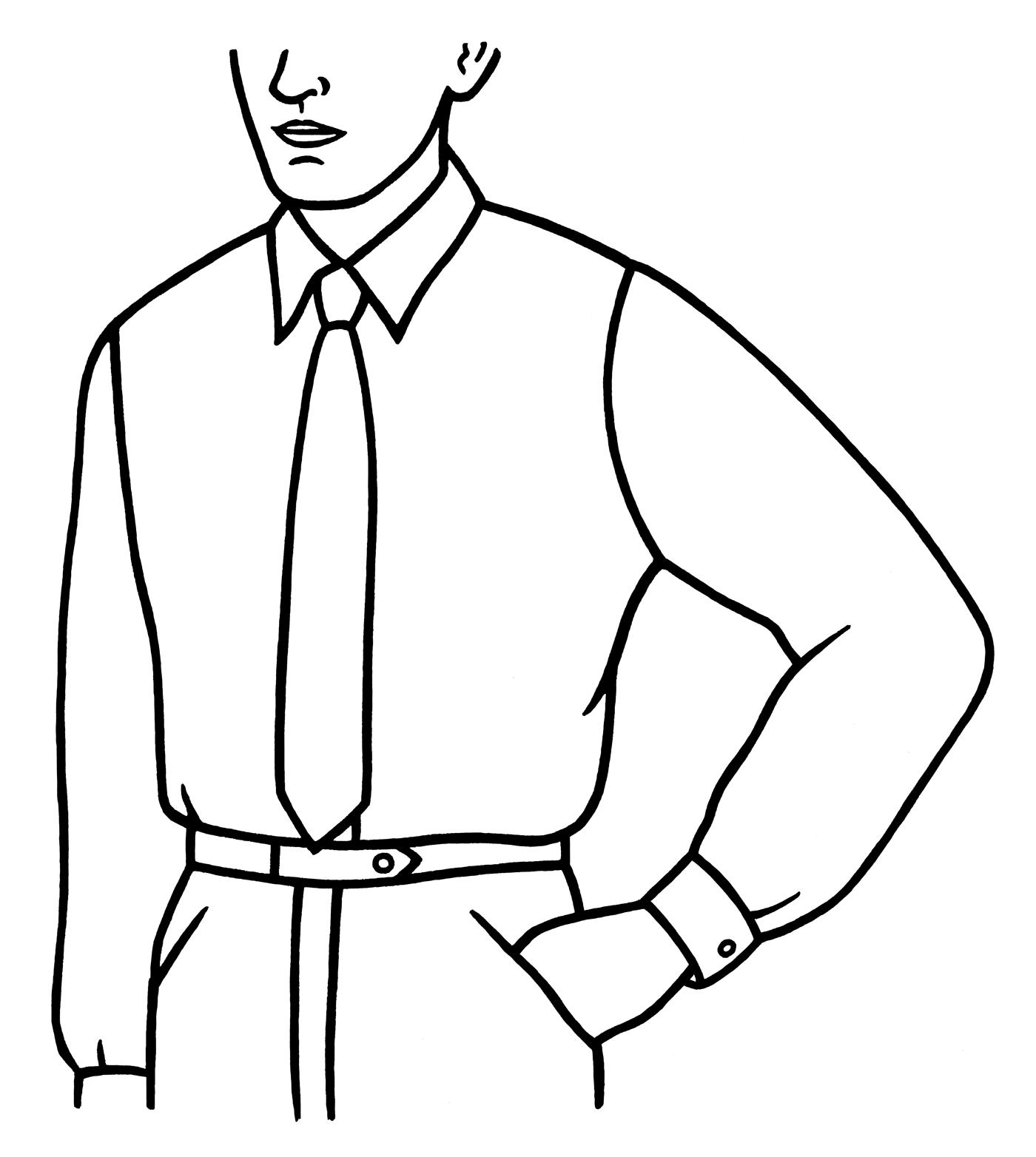 Man i skjorta